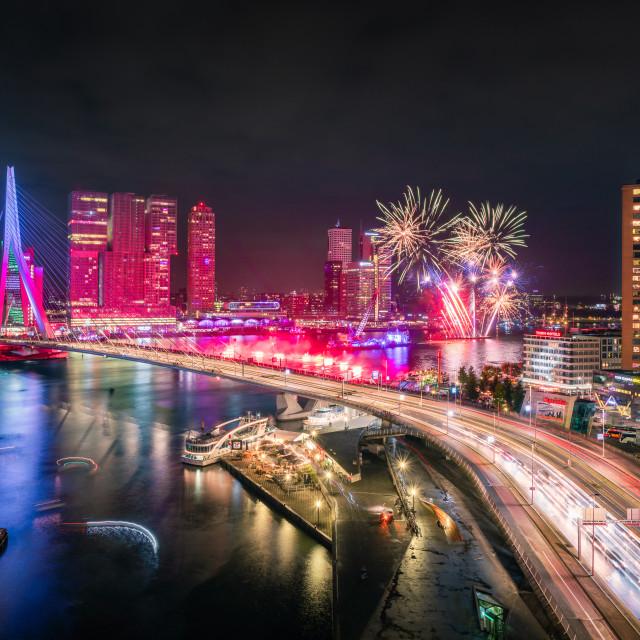 """""""Fireworks Wereld Haven Dagen Rotterdam"""" stock image"""