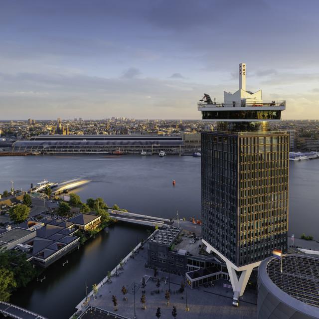 """Amsterdam skyline view"" stock image"