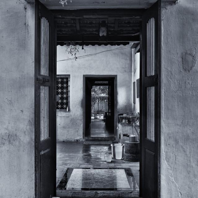 """""""A door opens"""" stock image"""
