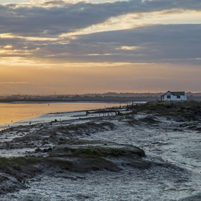 """North Fambridge Sunset"" stock image"
