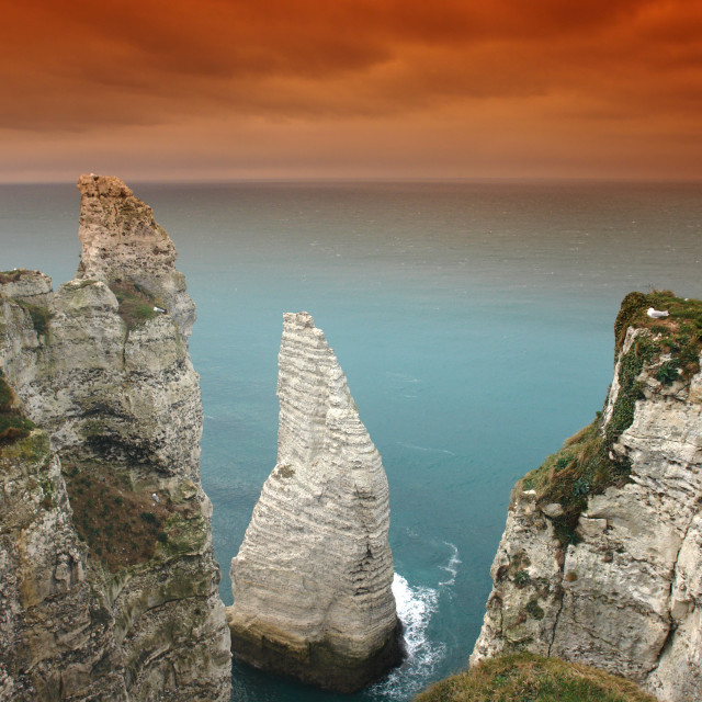 """The Etretat Needle"" stock image"