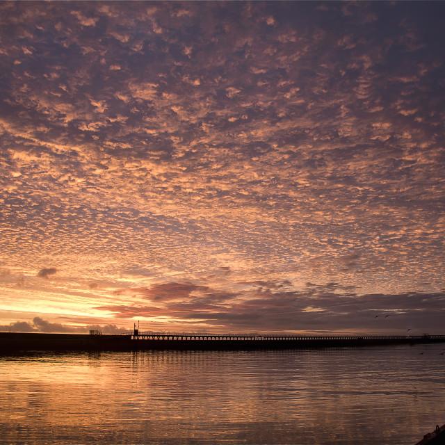 """""""Dappled sky at sunrise"""" stock image"""