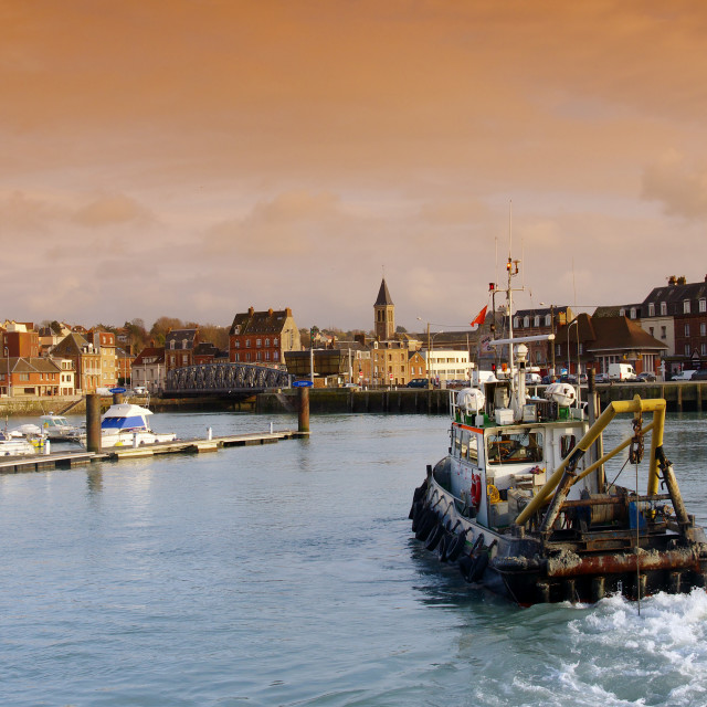 """Arrival in Dieppe"" stock image"
