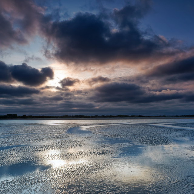 """Cotentin reflections"" stock image"