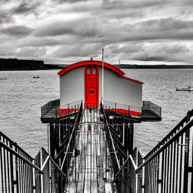 """""""Tenby Old Lifeboat Station"""" stock image"""