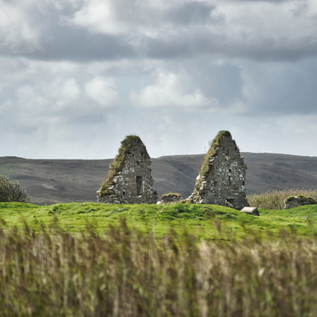 """Ruins of Finlaggan: the seat of the Lords of the Isles - Islay"" stock image"