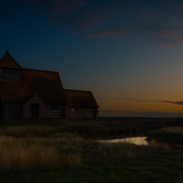 """""""Thomas a Becket Church at Sunrise"""" stock image"""