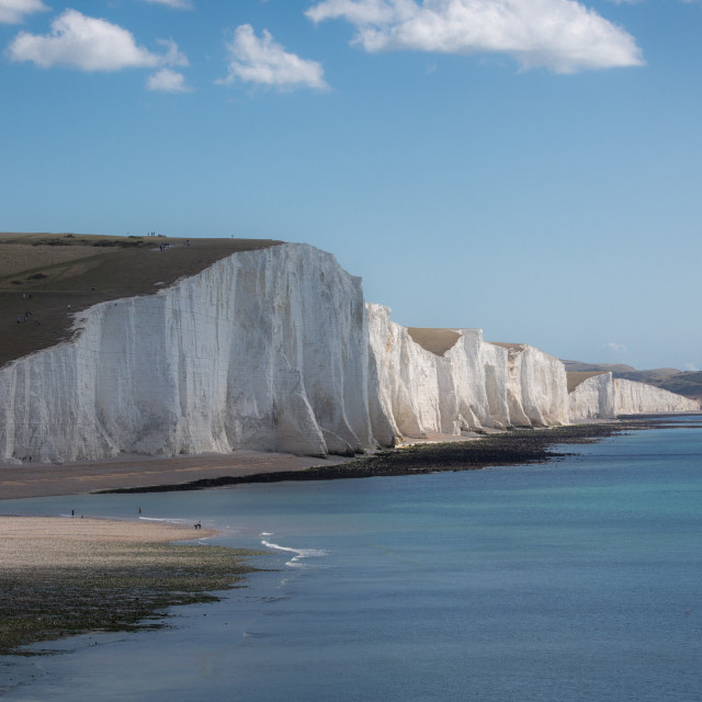 """""""Seven Sisters cliffs, East Sussex"""" stock image"""