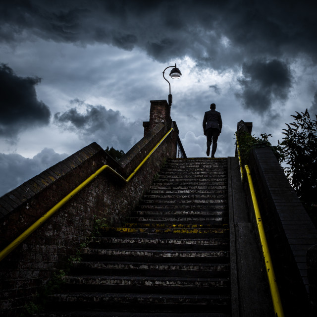 """Railway Station steps"" stock image"