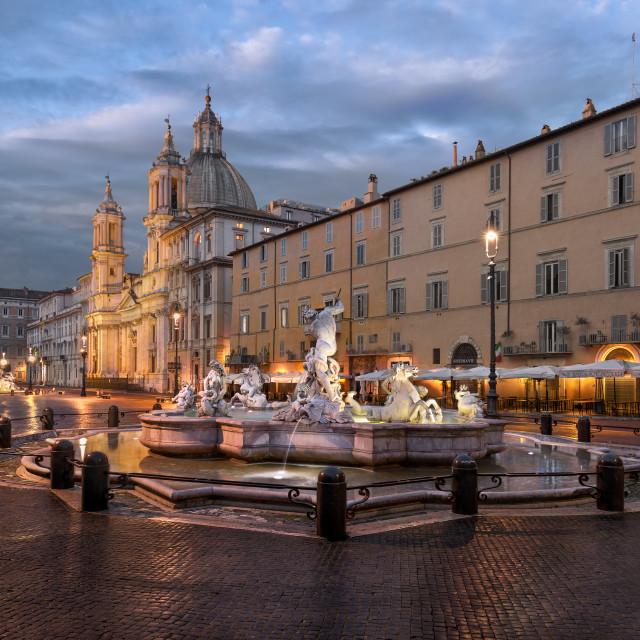 """Piazza Navona"" stock image"