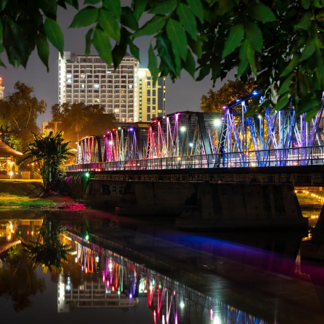 """""""Sapaan Lek, Chiang Mai in northern Thailand"""" stock image"""