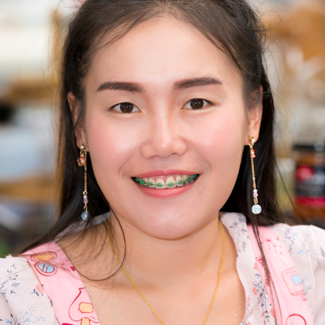 """Portrait of young woman in Chiang Mai"" stock image"