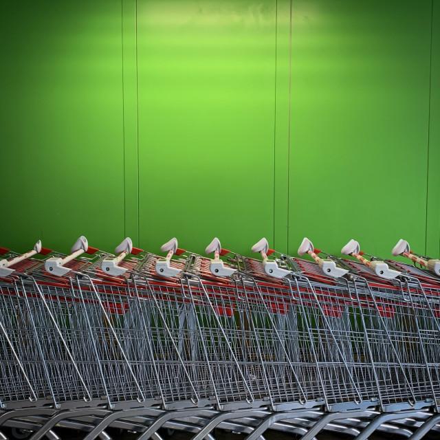 """""""Shop 'till you drop"""" stock image"""