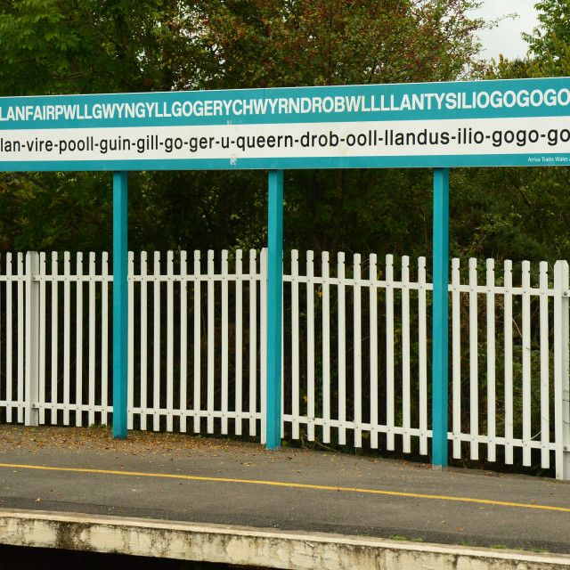 """Llanfairpwllgwyngyll"" stock image"