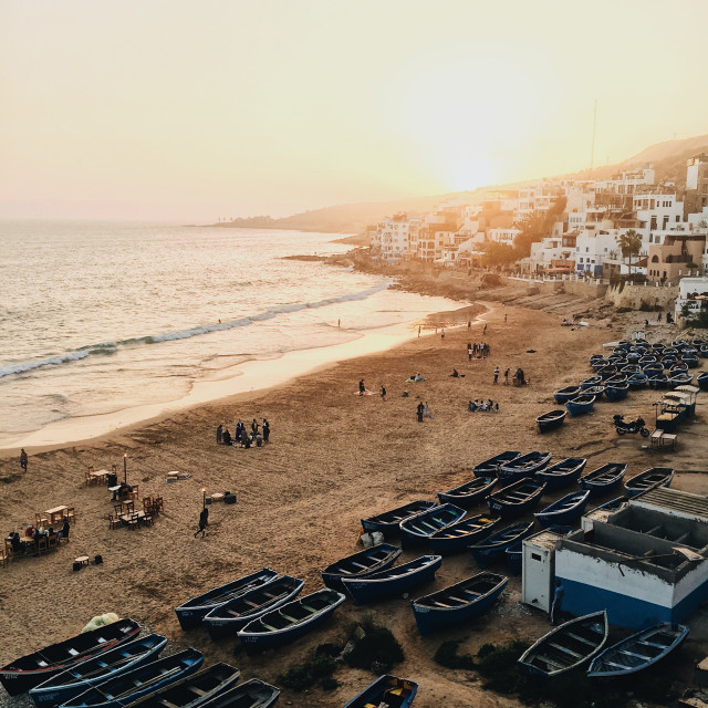 """""""TAGHAZOUT SUNSET"""" stock image"""