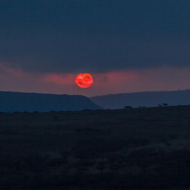 """African Sunset Terrain Landscape"" stock image"