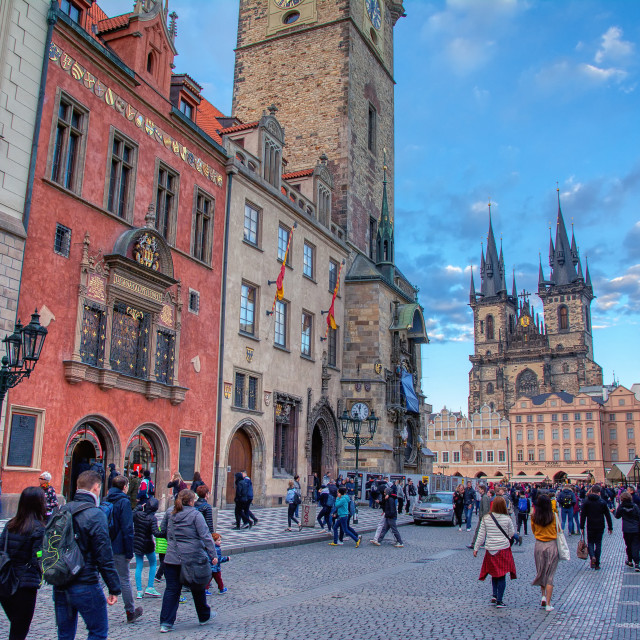 """Prague market on Old Town square In Prague, Czech Republic"" stock image"