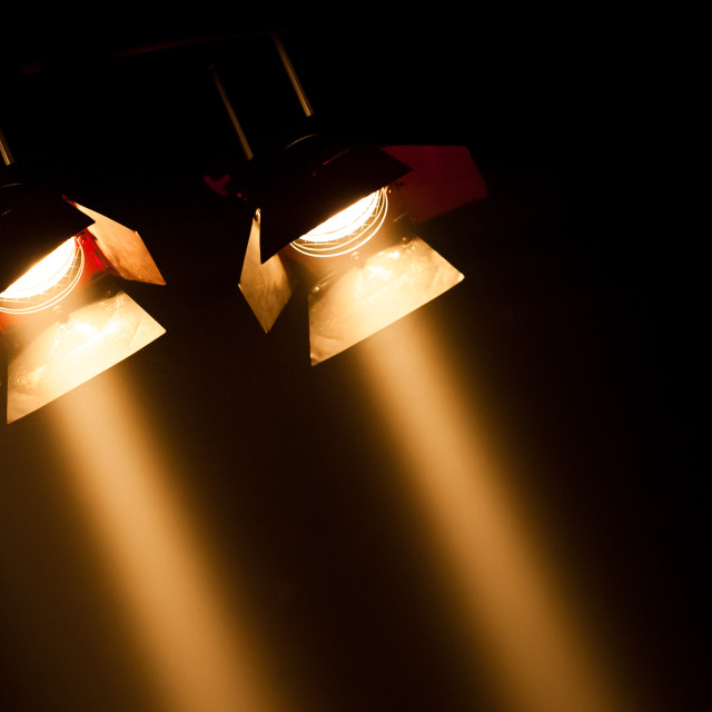 """theatre spotlights"" stock image"