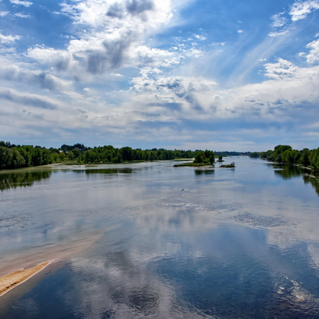 """""""Loire river reflections"""" stock image"""