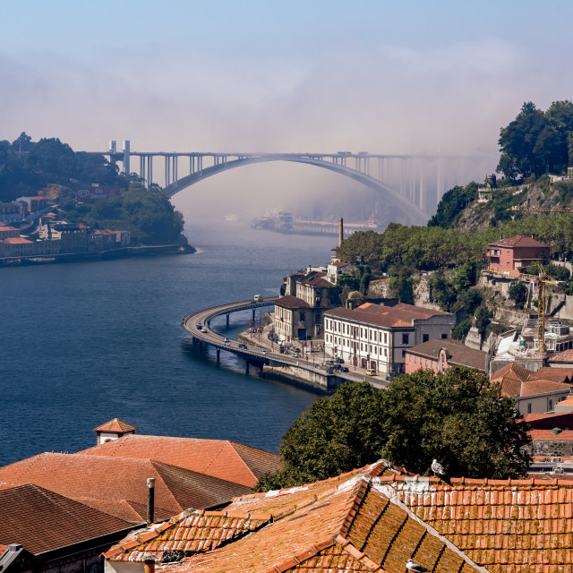 """""""Fog arriving in the city"""" stock image"""