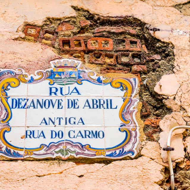 """Traditional Portuguese azulejo tiles"" stock image"