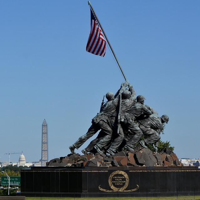 """Washington DC 2013 The Iwo Jima Memorial"" stock image"