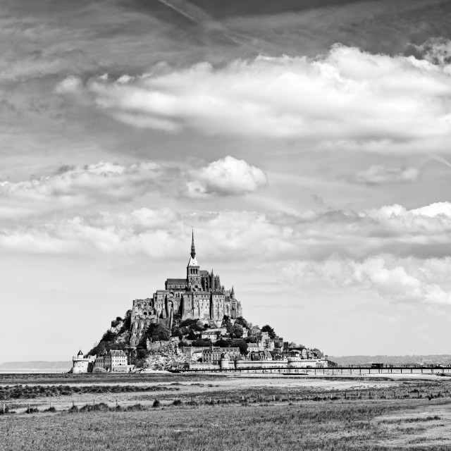 """Mont Saint Michel bay"" stock image"