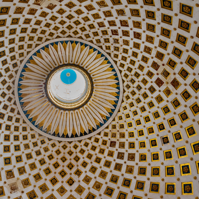 """Ceiling of the Mosta Rotunda (Dome) in Malta"" stock image"