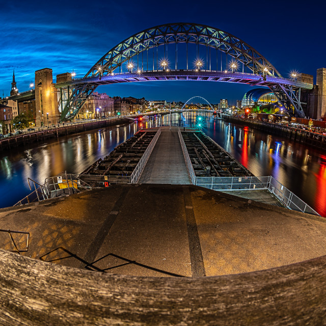 """Noctilucent Newcastle 2"" stock image"