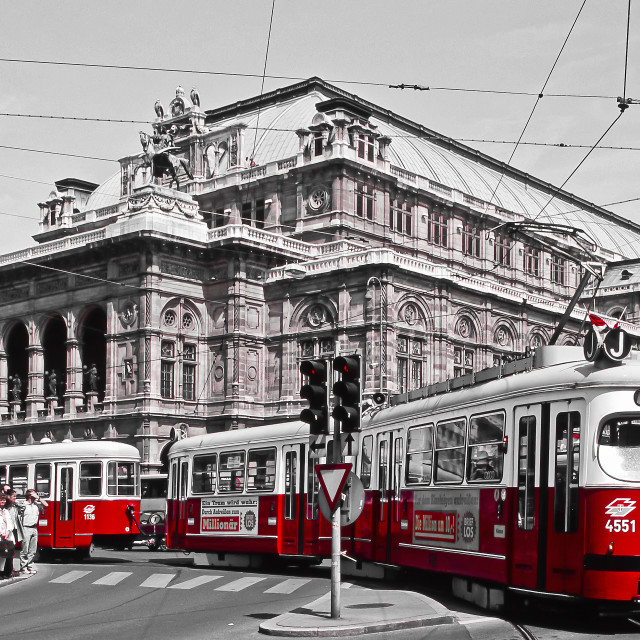 """""""Red tram"""" stock image"""