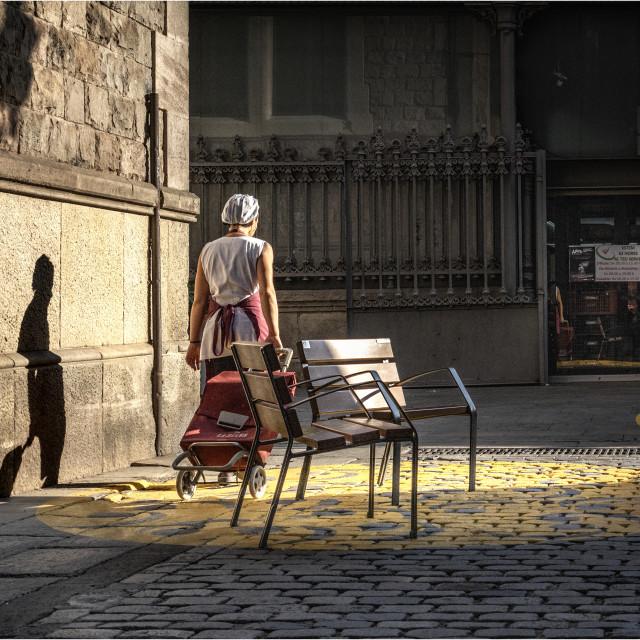 """Sombras por la mañana"" stock image"