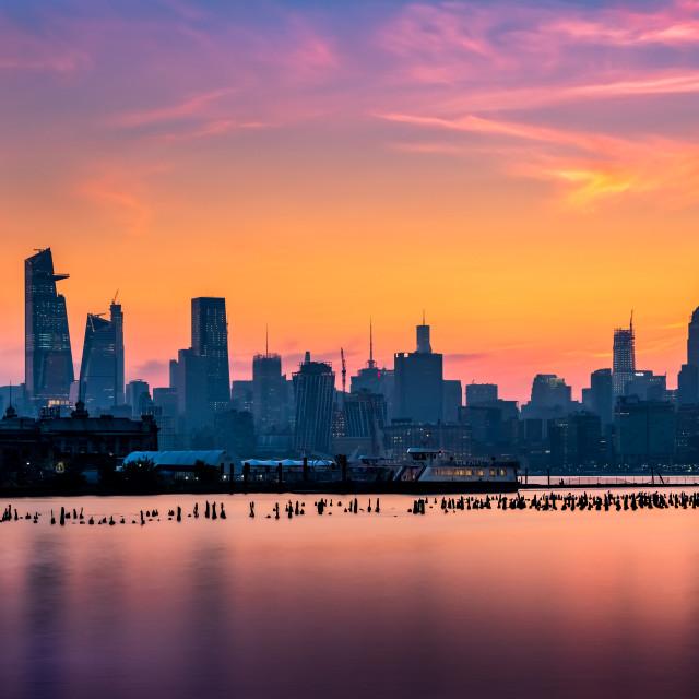 """""""Morning Sunrise NYC"""" stock image"""