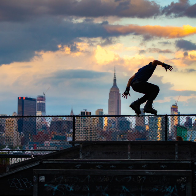 """Rollerblader NYC"" stock image"