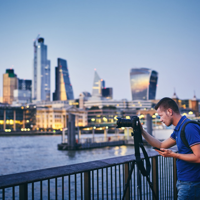 """Photographer in London"" stock image"