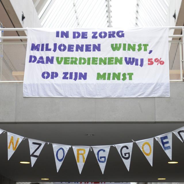 """""""Amsterdam NL 9 oktober 2019. Bij de Onze Lieve Vrouw Gasthuis (OLVG) in..."""" stock image"""