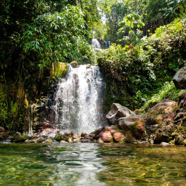 """Waterfall Costa Rica"" stock image"