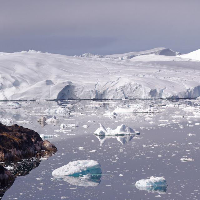 """Greenland Ice Fjord"" stock image"