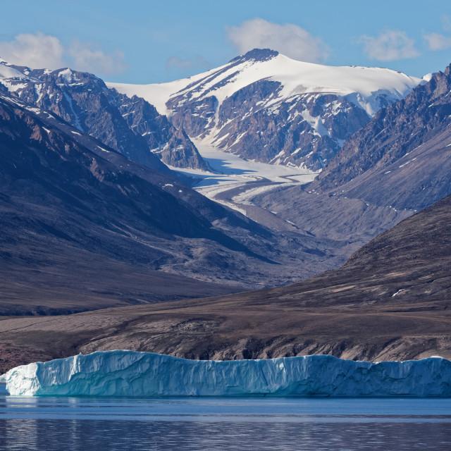 """Iceberg and Glacier"" stock image"