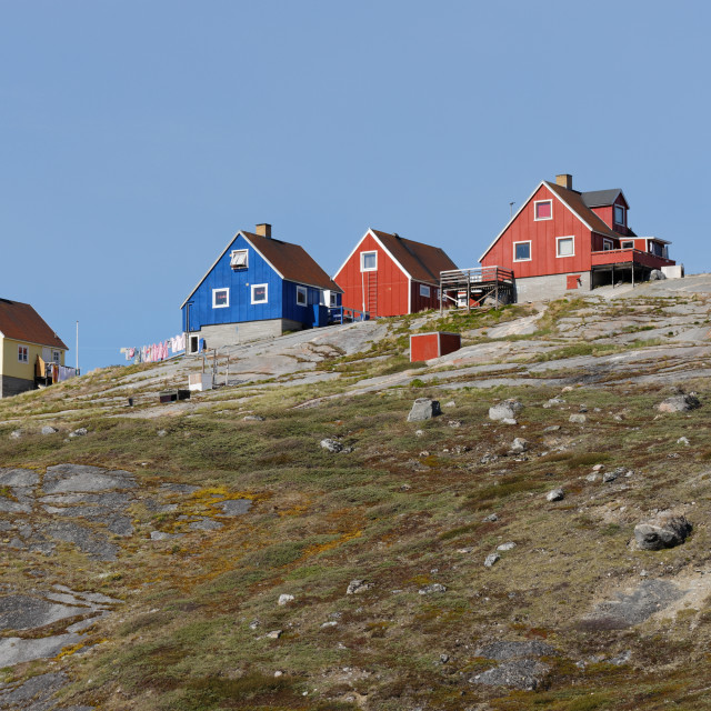 """""""Greenland Houses"""" stock image"""