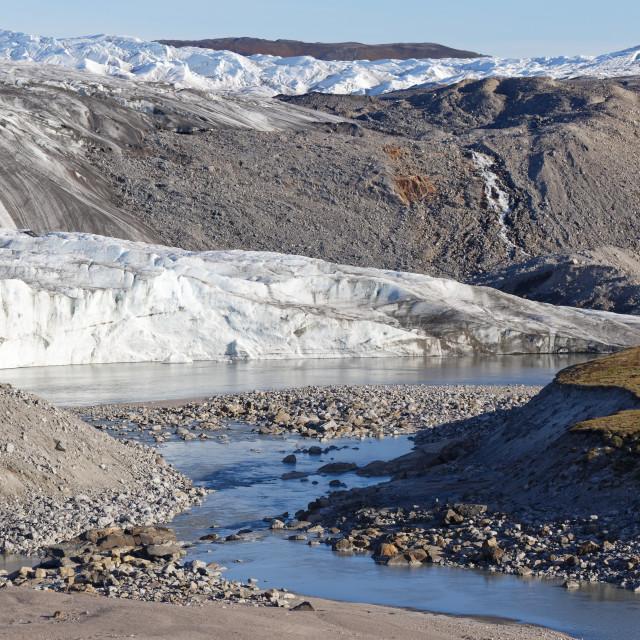 """""""Reindeer Glacier"""" stock image"""