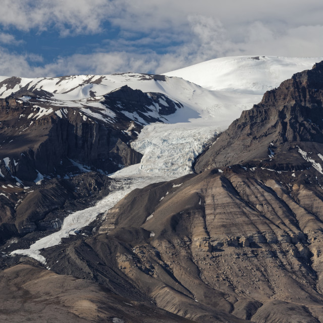 """Receding Glacier"" stock image"