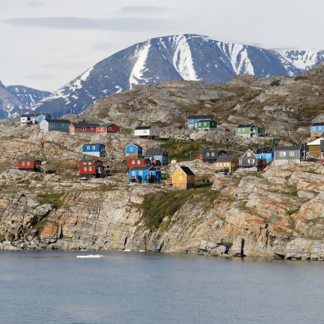 """Ikkussisat village in Greenland"" stock image"
