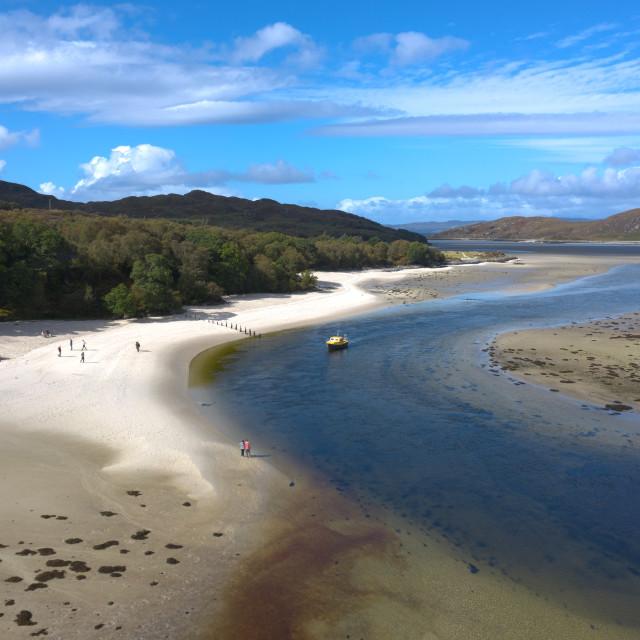 """""""Morar Beach, Mallaig, Scotland"""" stock image"""