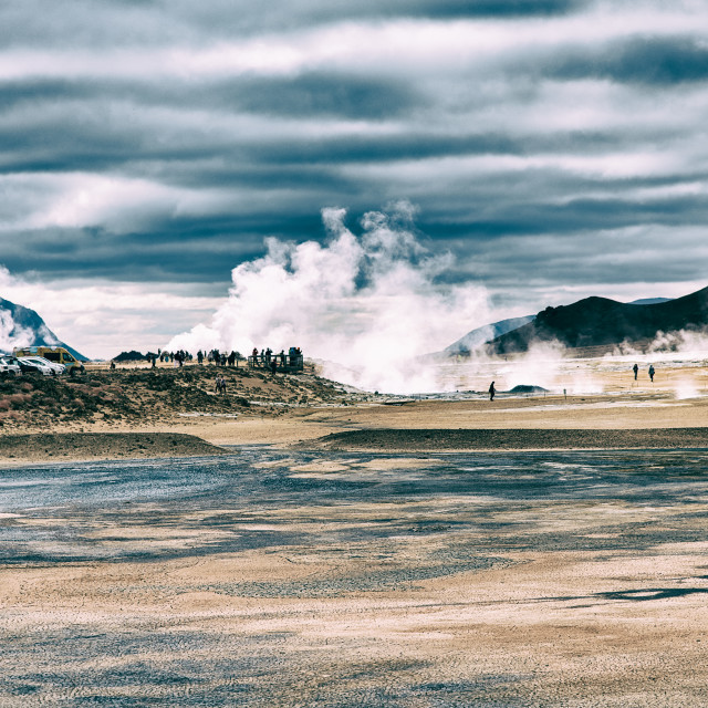 """Hverir Geothermal area, Myvatn, Iceland"" stock image"