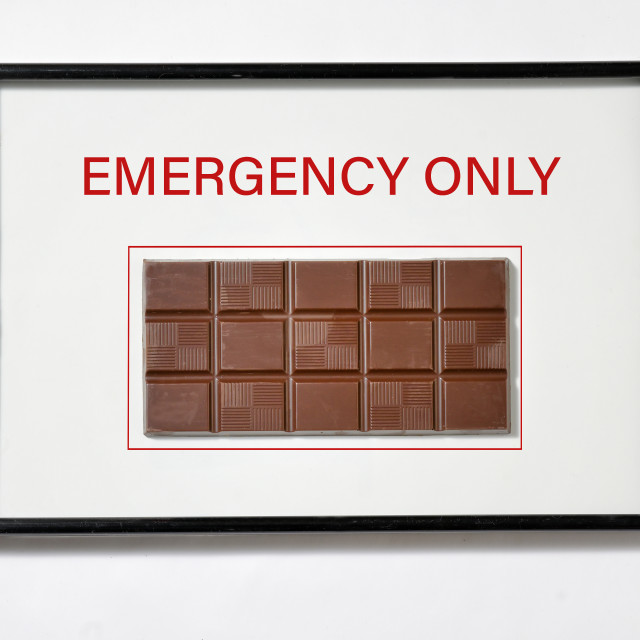 """""""Chocolate in Hose Cabinet Red Color Emergency Equipment"""" stock image"""