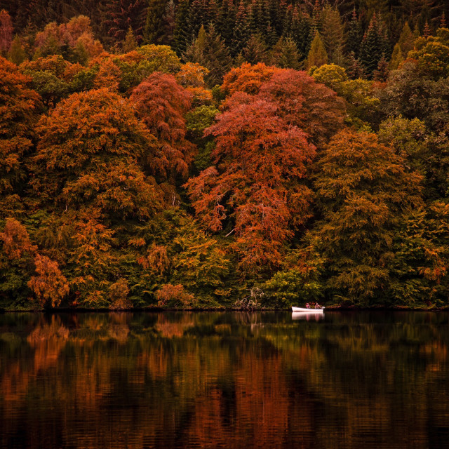 """Loch Faskally"" stock image"