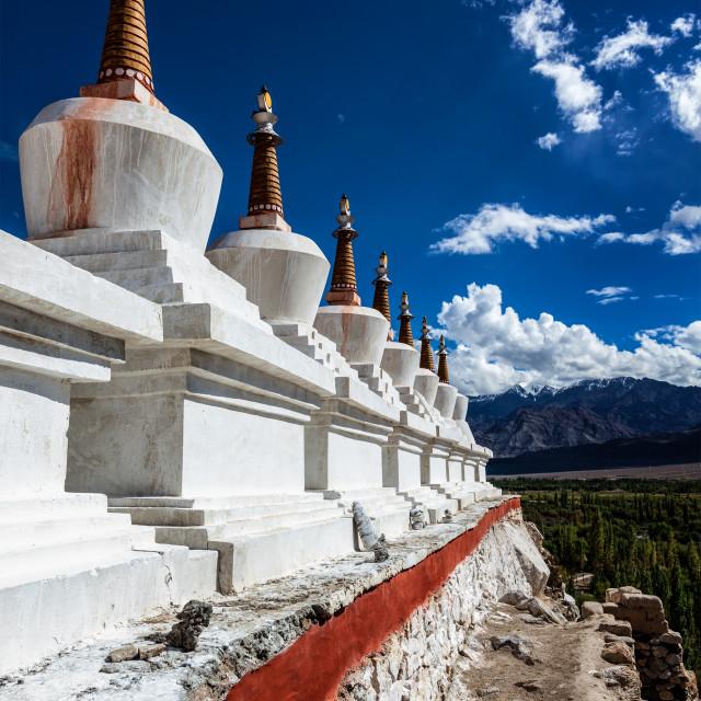 """""""Chortens stupas , Ladakh, India"""" stock image"""