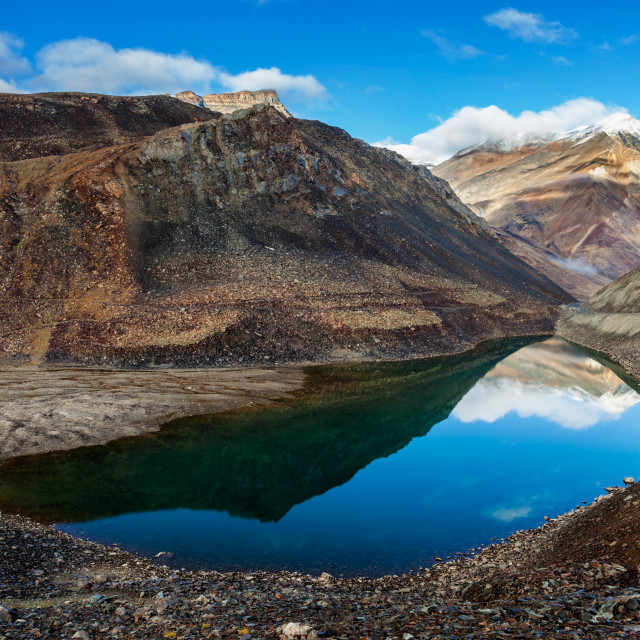 """Suraj Tal lake, Himachal Pradesh, India"" stock image"