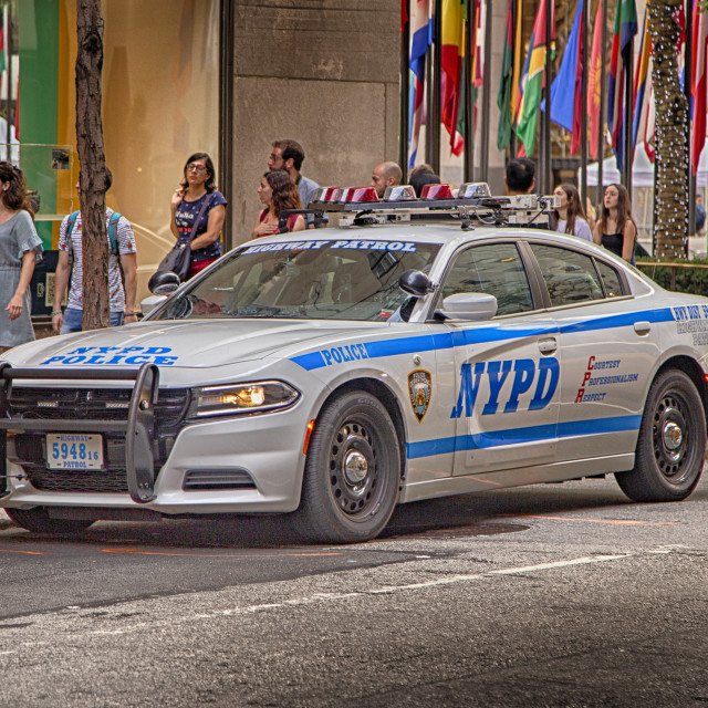 """NYPD Police Car"" stock image"