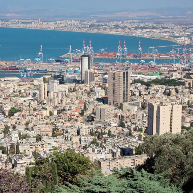 """""""City of Haifa - Israel"""" stock image"""